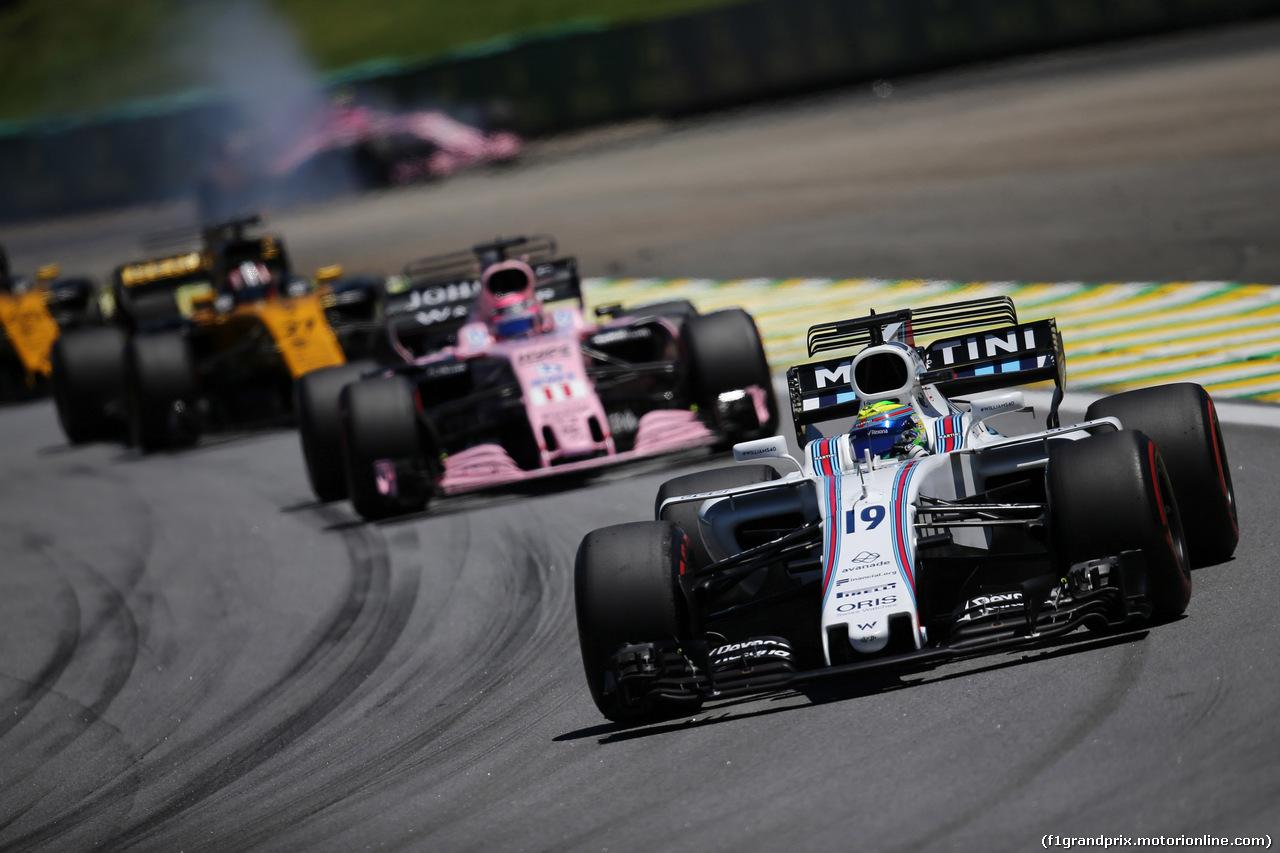 GP BRASILE, 12.11.2017 - Gara, Felipe Massa (BRA) Williams FW40