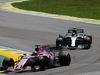 GP BRASILE, 12.11.2017 - Gara, Sergio Perez (MEX) Sahara Force India F1 VJM010 e Lewis Hamilton (GBR) Mercedes AMG F1 W08