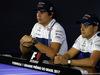 GP BRASILE, 09.11.2017 - Conferenza Stampa, Lance Stroll (CDN) Williams FW40 e Felipe Massa (BRA) Williams FW40