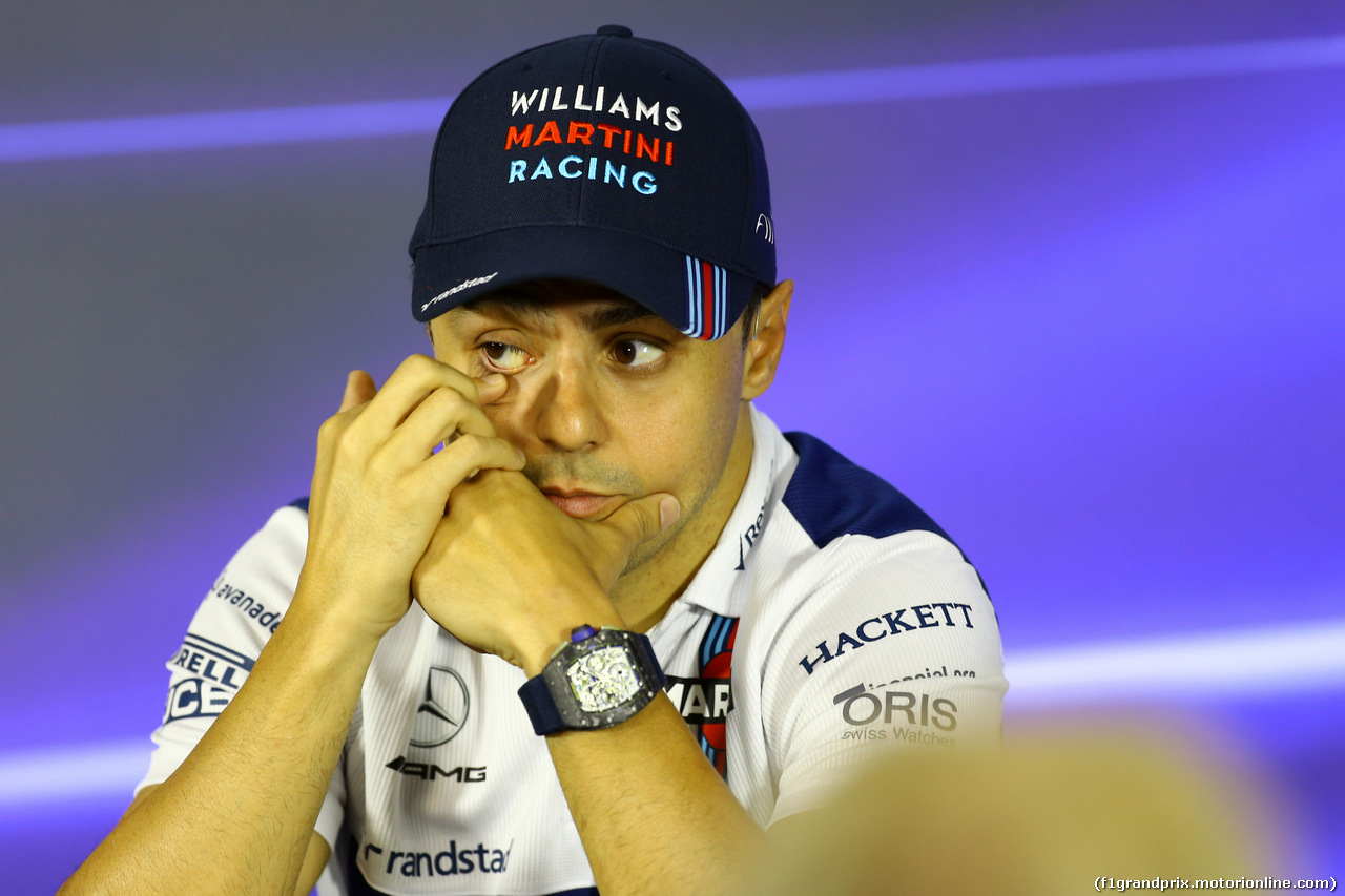 GP BRASILE, 09.11.2017 - Conferenza Stampa, Felipe Massa (BRA) Williams FW40