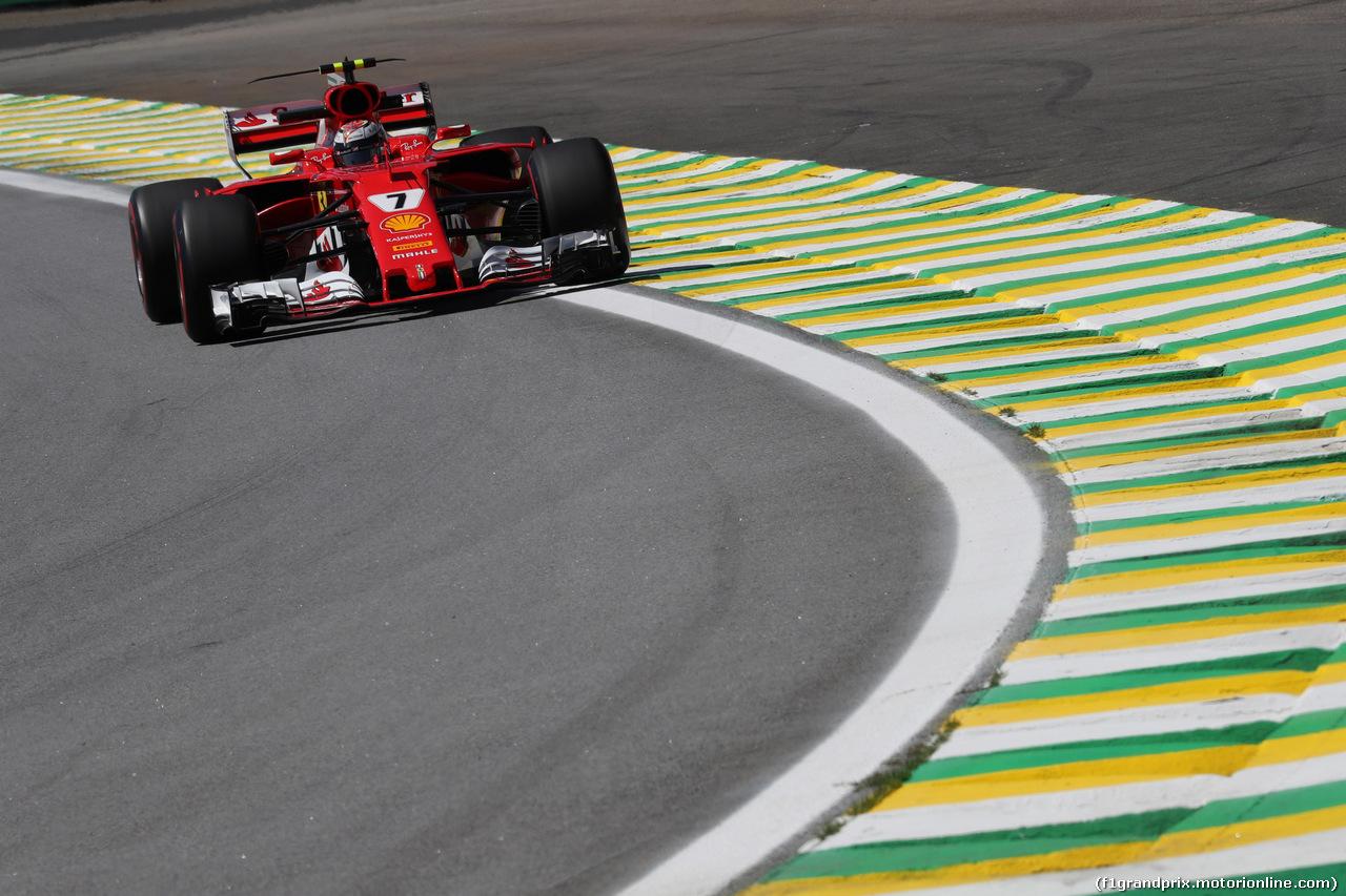 GP BRASILE, 10.11.2017 - Prove Libere 1, Kimi Raikkonen (FIN) Ferrari SF70H