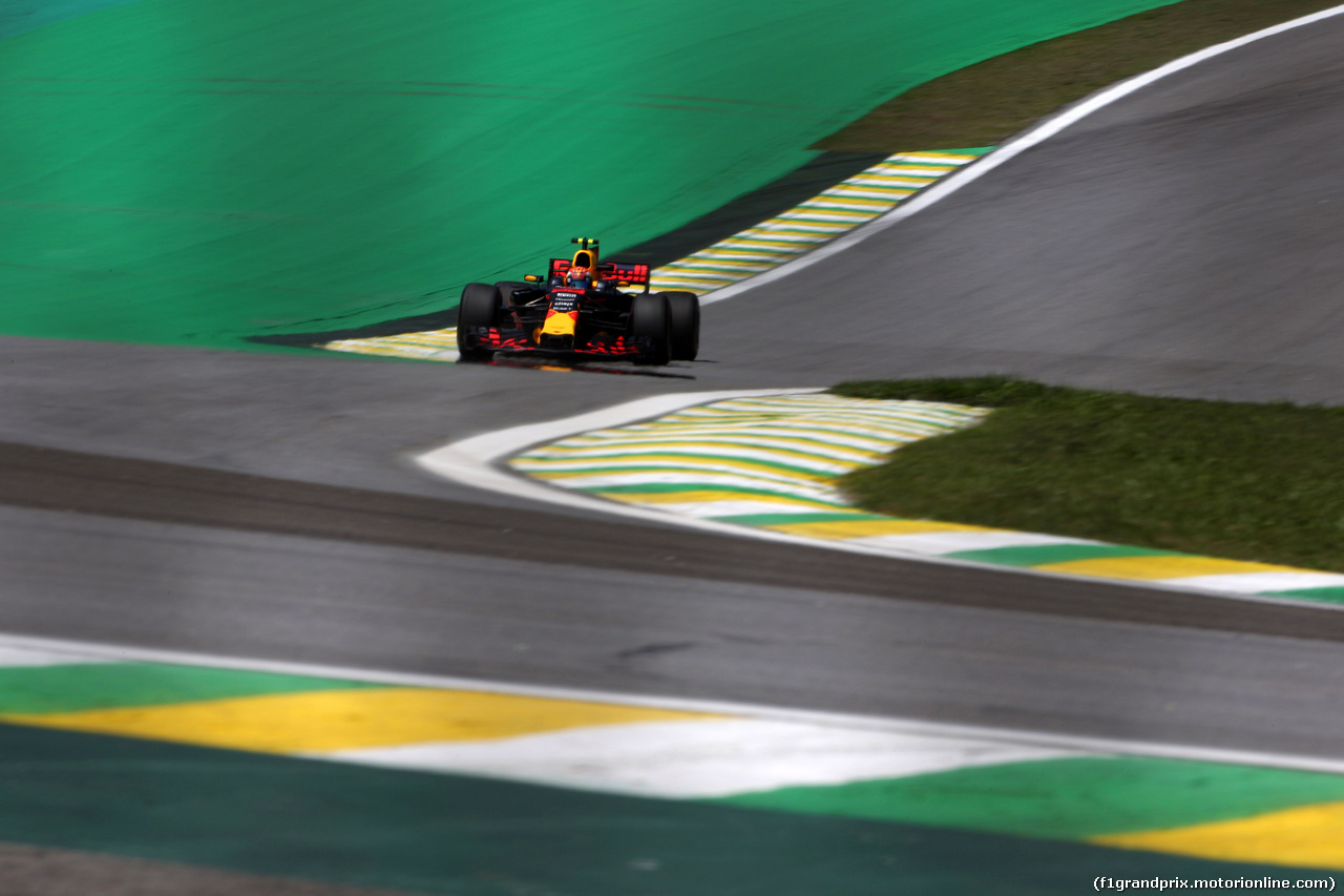 GP BRASILE, 10.11.2017 - Prove Libere 1, Max Verstappen (NED) Red Bull Racing RB13