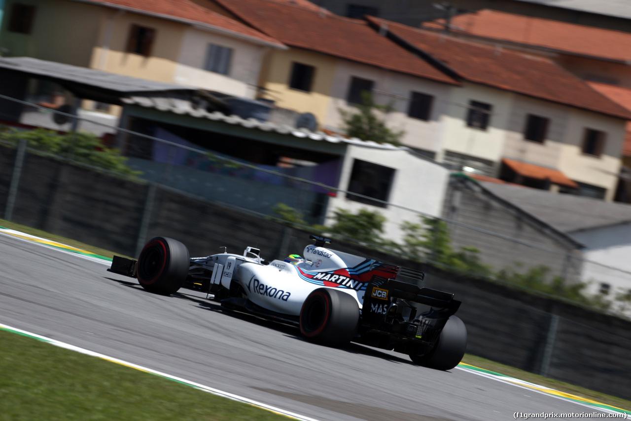 GP BRASILE, 10.11.2017 - Prove Libere 1, Felipe Massa (BRA) Williams FW40