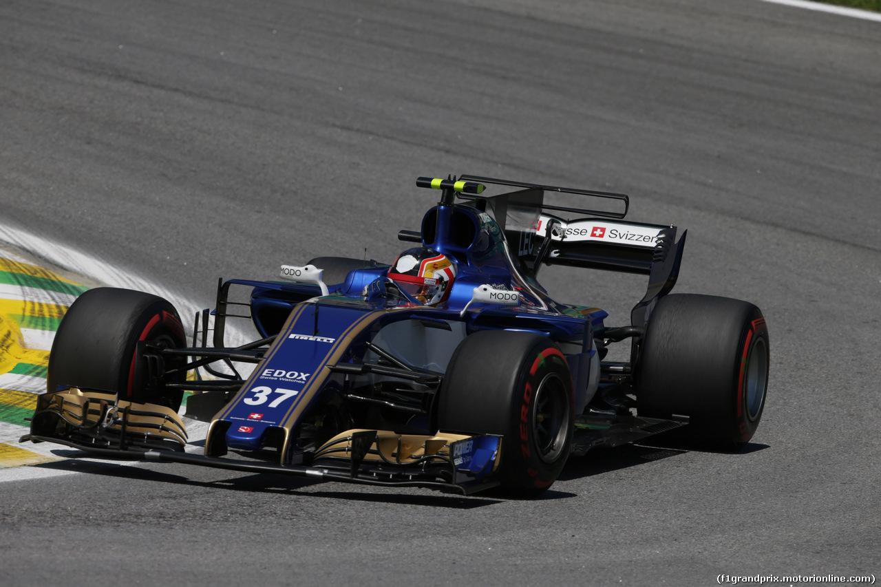 GP BRASILE, 10.11.2017 - Prove Libere 1, Charles Leclerc (MON) Test Driver, Sauber C36