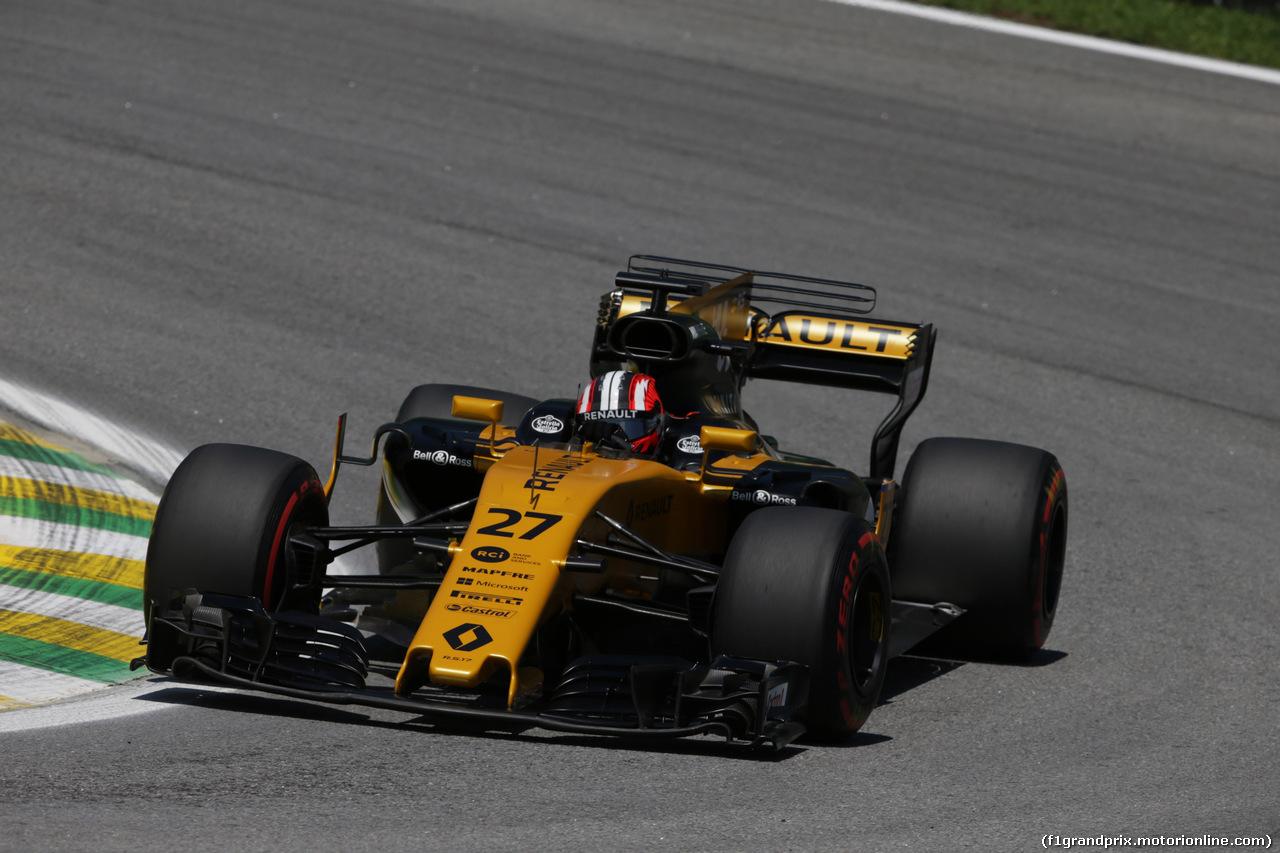 GP BRASILE, 10.11.2017 - Prove Libere 1, Nico Hulkenberg (GER) Renault Sport F1 Team RS17