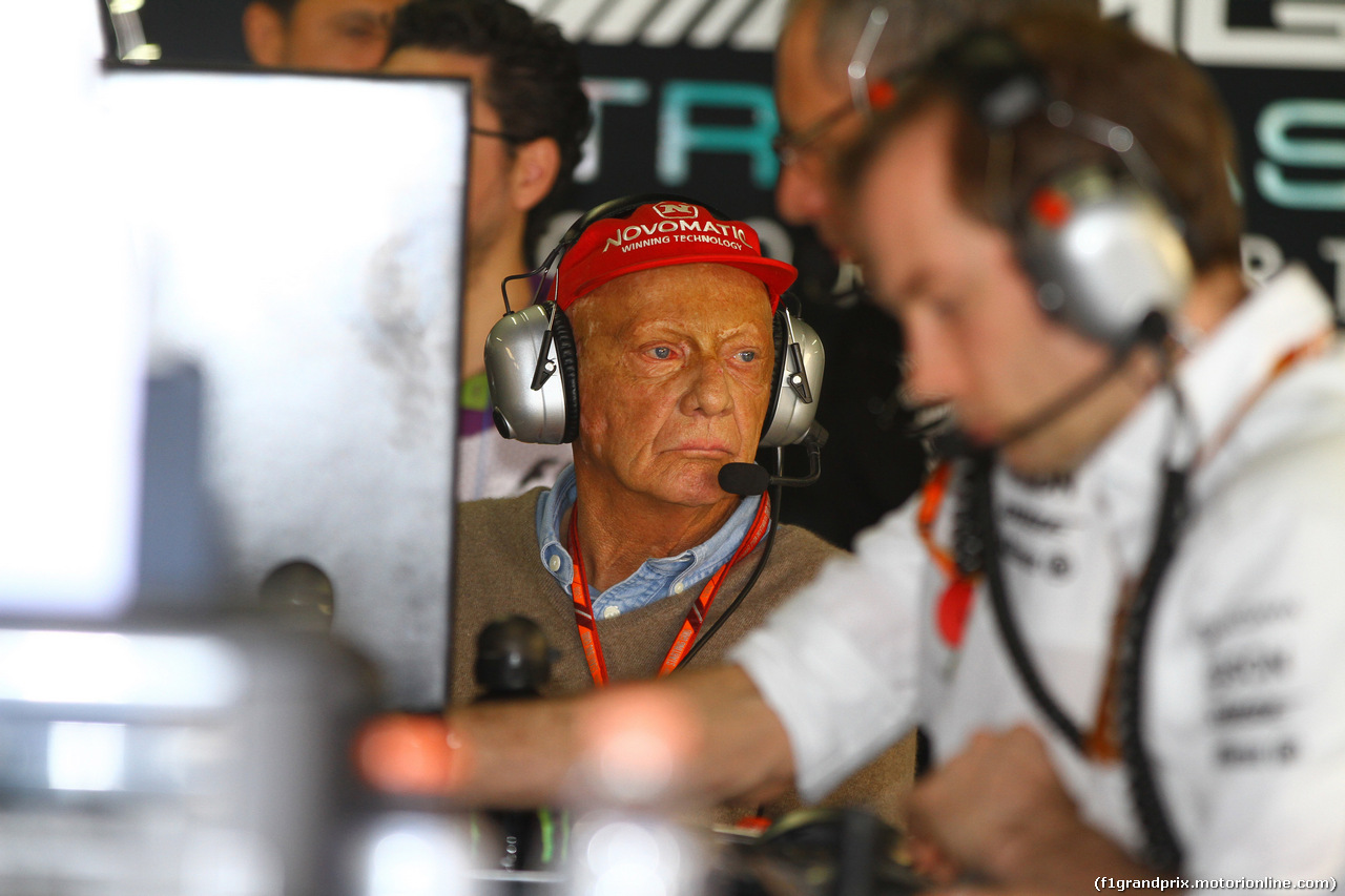 GP BRASILE, 10.11.2017 - Prove Libere 1, Nikki Lauda (AU), Mercedes
