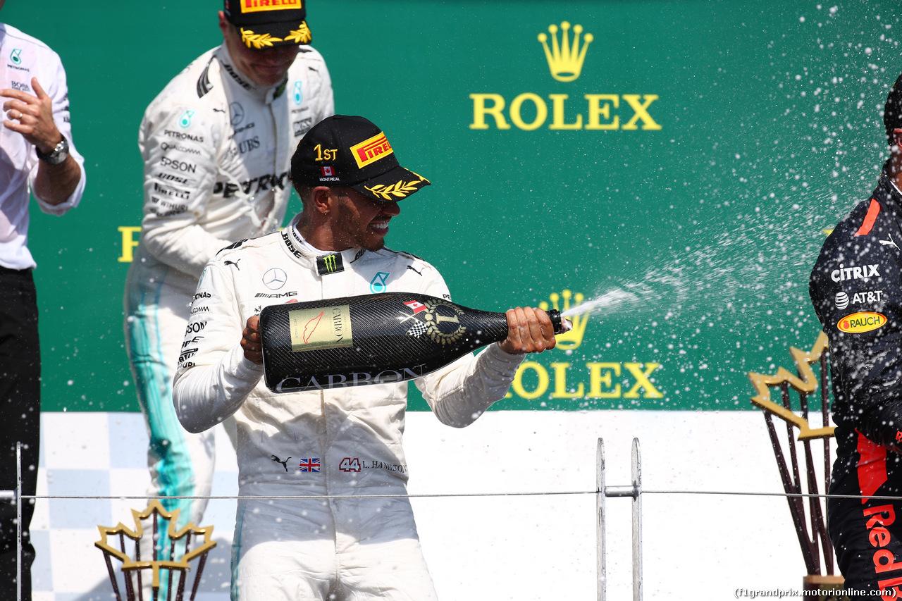 GP CANADA, 11.06.2017- Podium, winner Lewis Hamilton (GBR) Mercedes AMG F1 W08