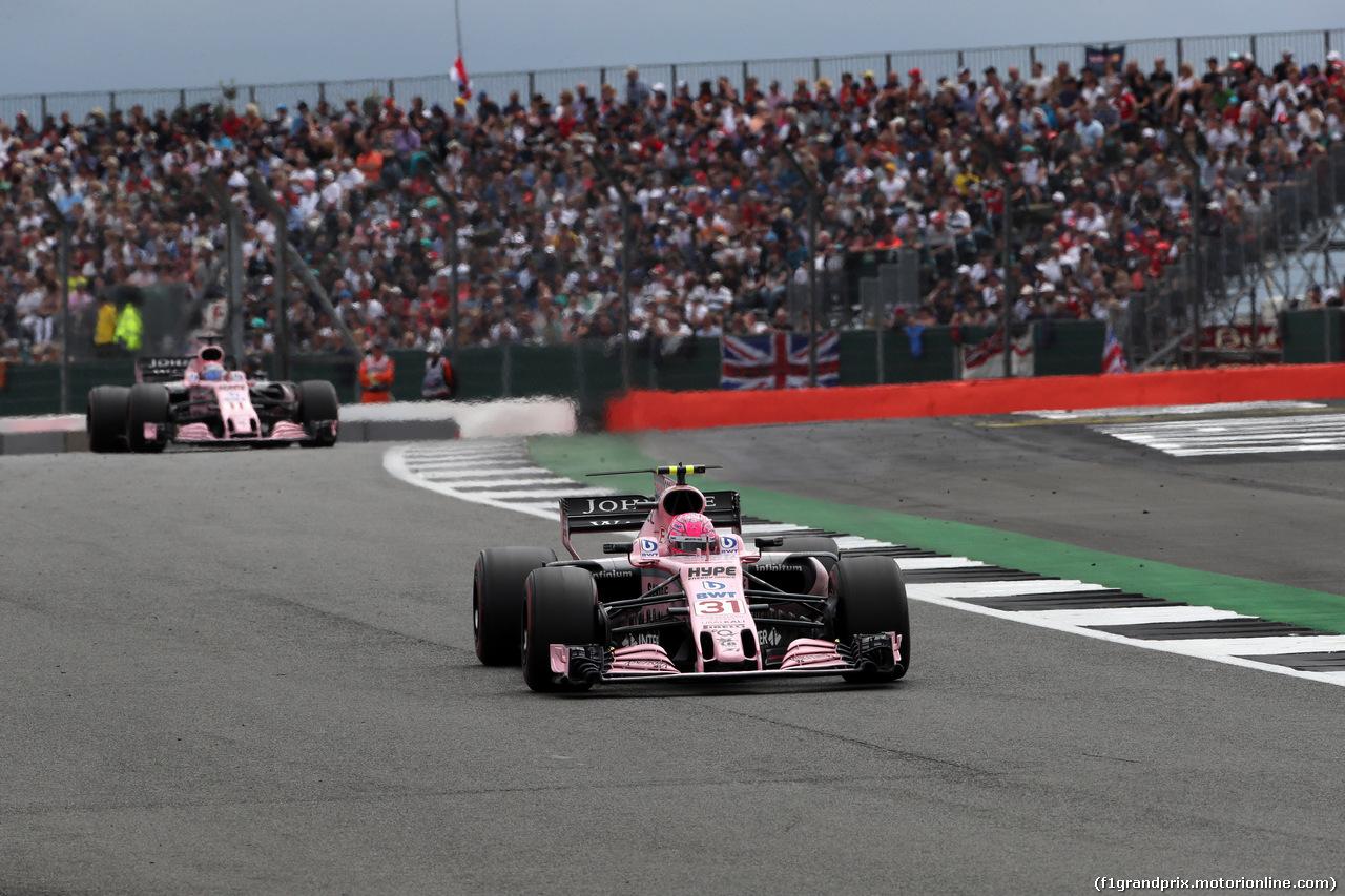 GP GRAN BRETAGNA, 16.07.2017 - Gara, Esteban Ocon (FRA) Sahara Force India F1 VJM10