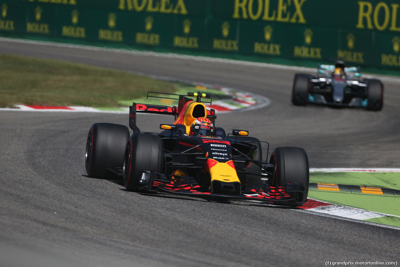 GP ITALIA, 03.09.2017- Gara, Max Verstappen (NED) Red Bull Racing RB13