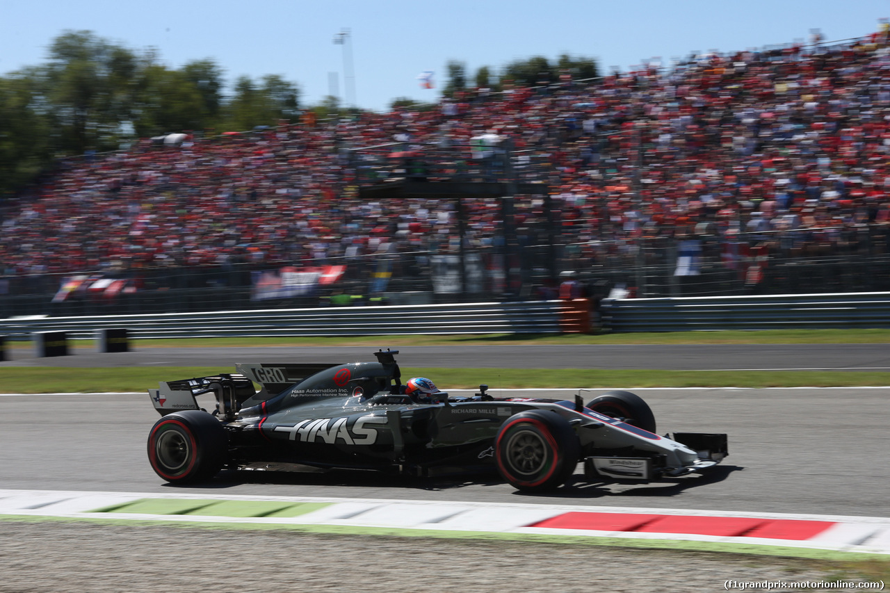 GP ITALIA, 03.09.2017- Gara, Romain Grosjean (FRA) Haas F1 Team VF-17