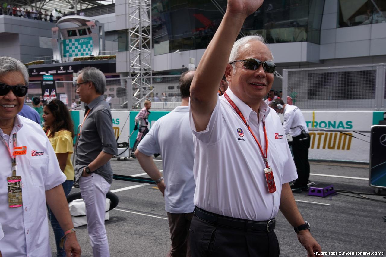 GP MALESIA, 01.10.2017 - Gara, The Prime-Minister of Malaysia
