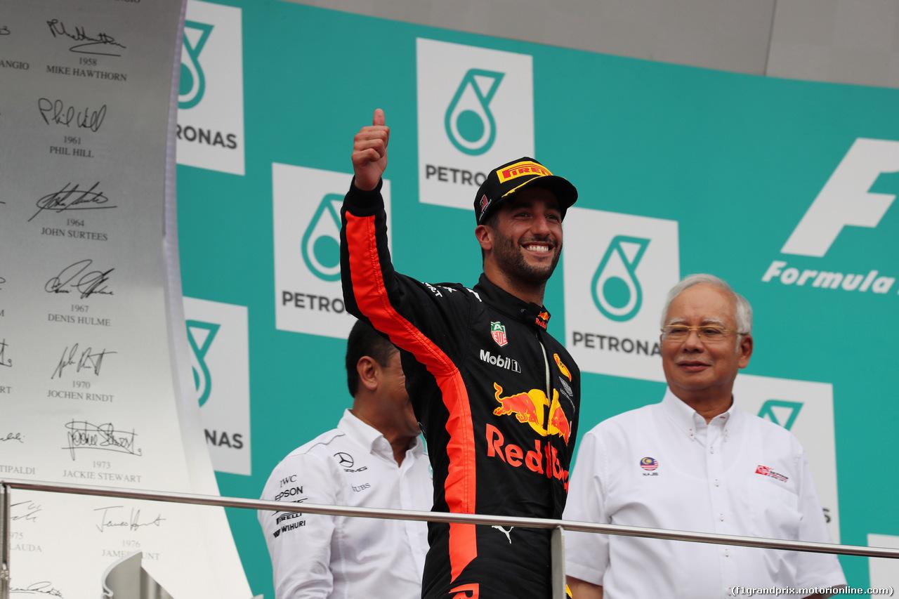GP MALESIA, 01.10.2017 - Gara, 3rd place Daniel Ricciardo (AUS) Red Bull Racing RB13