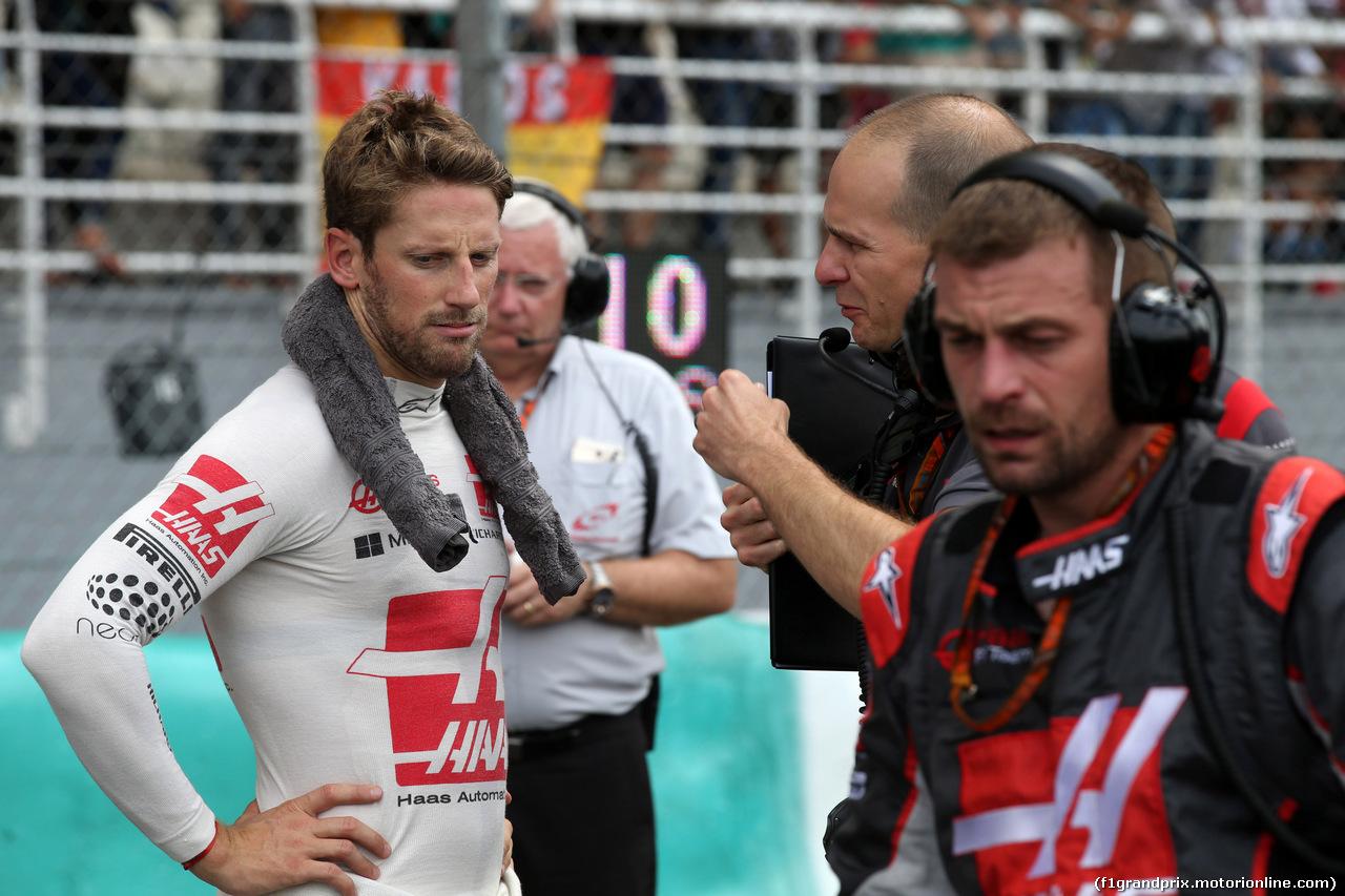 GP MALESIA, 01.10.2017 - Gara, Romain Grosjean (FRA) Haas F1 Team VF-17