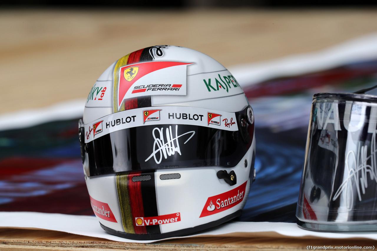 GP MALESIA, 28.09.2017 - The helmet of Sebastian Vettel (GER) Ferrari SF70H