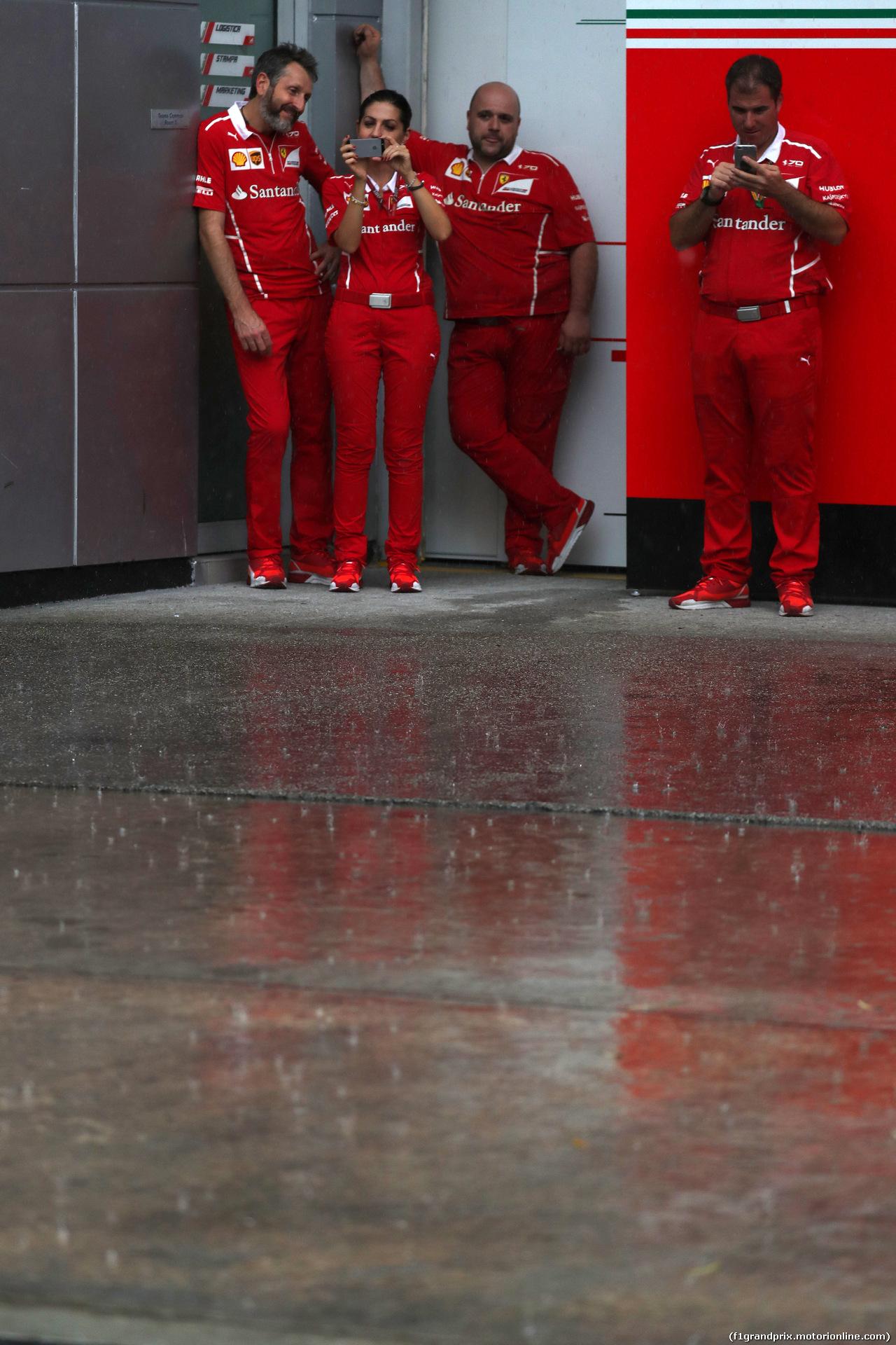GP MALESIA, 28.09.2017 - Ferrari Team