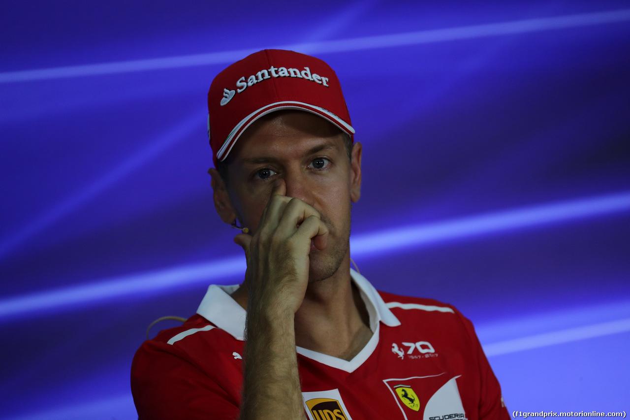 GP MALESIA, 28.09.2017 - Conferenza Stampa, Sebastian Vettel (GER) Ferrari SF70H
