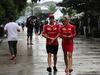 GP MALESIA, 28.09.2017 - Sebastian Vettel (GER) Ferrari SF70H e Britta Roeske (AUT) Ferrari Press Officer