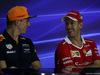 GP MALESIA, 28.09.2017 - Conferenza Stampa, Max Verstappen (NED) Red Bull Racing RB13 e Sebastian Vettel (GER) Ferrari SF70H