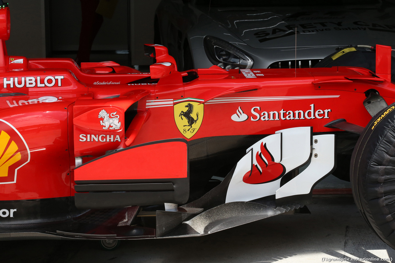 GP MALESIA, 30.09.2017 - Ferrari SF70H, detail