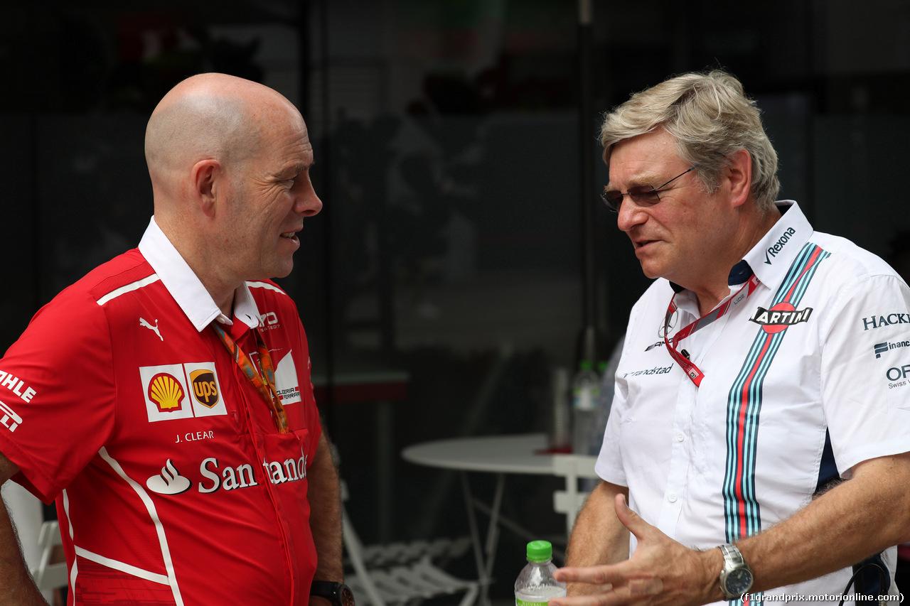 GP MALESIA, 30.09.2017 - Jock Clear (GBR) Ferrari Engineering Director