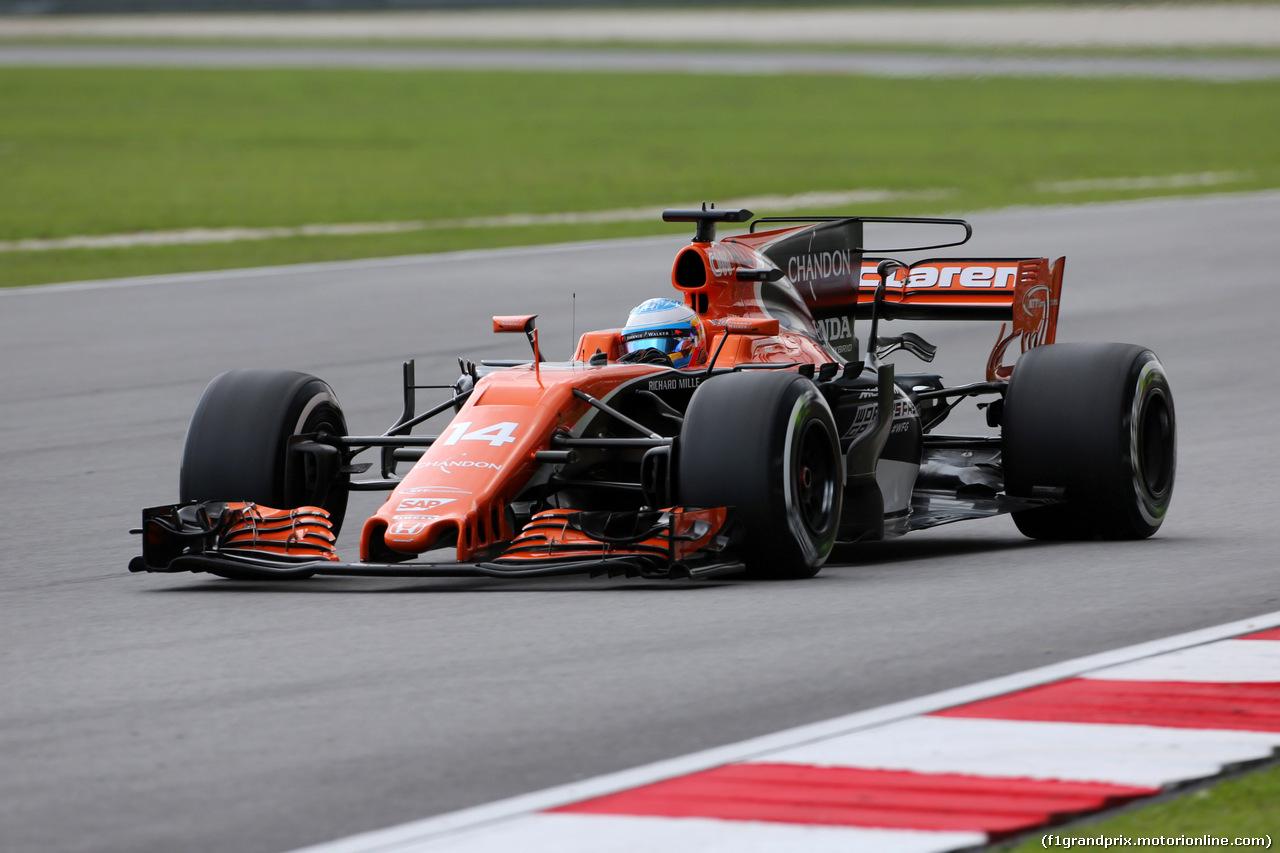 GP MALESIA, 30.09.2017 - Prove Libere 3, Fernando Alonso (ESP) McLaren MCL32