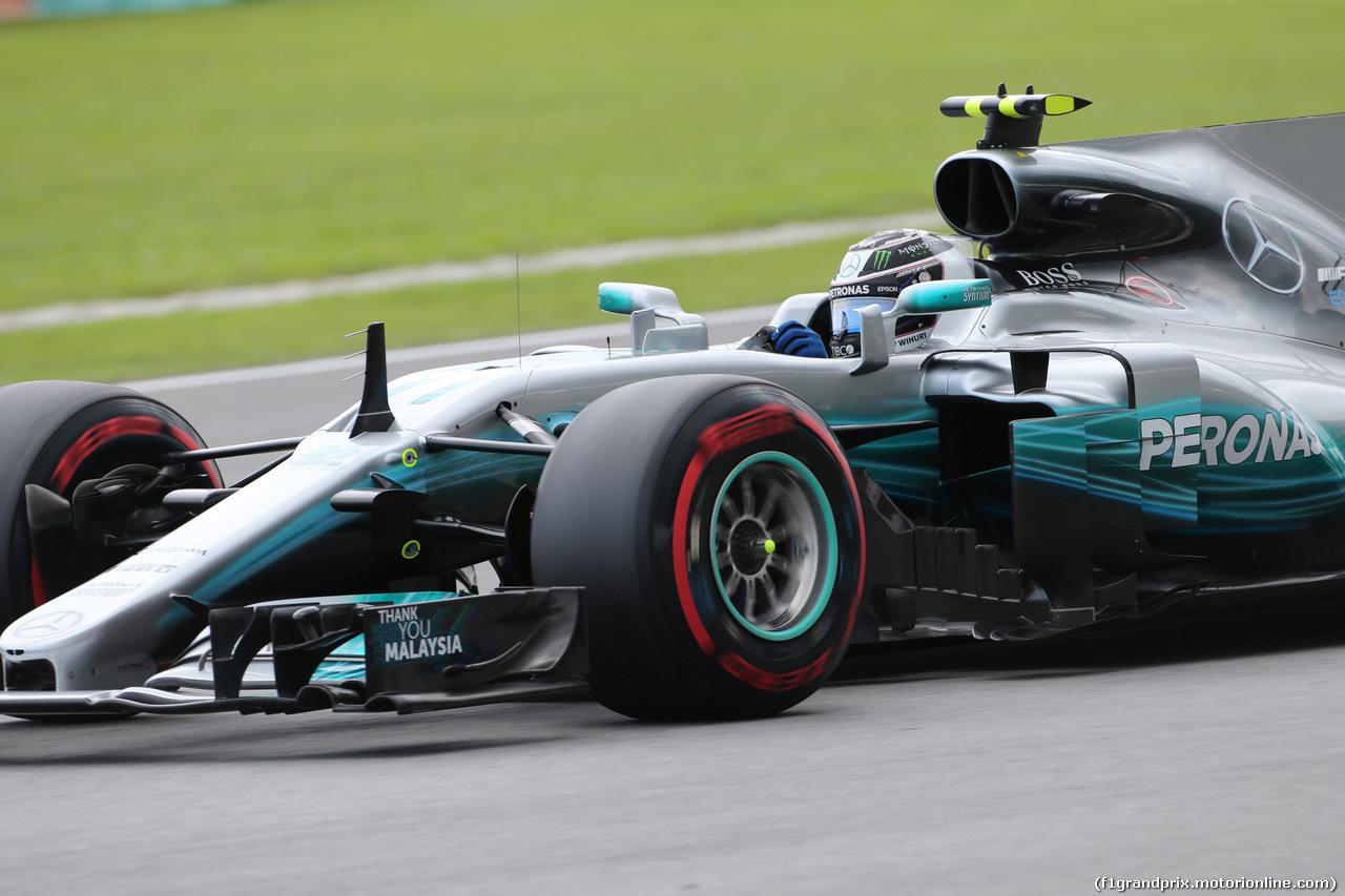 GP MALESIA, 30.09.2017 - Prove Libere 3, Valtteri Bottas (FIN) Mercedes AMG F1 W08