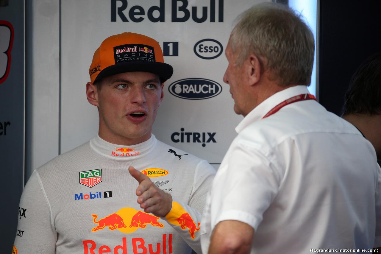 GP MALESIA, 30.09.2017 - Prove Libere 3, Max Verstappen (NED) Red Bull Racing RB13 e Helmut Marko (AUT), Red Bull Racing, Red Bull Advisor