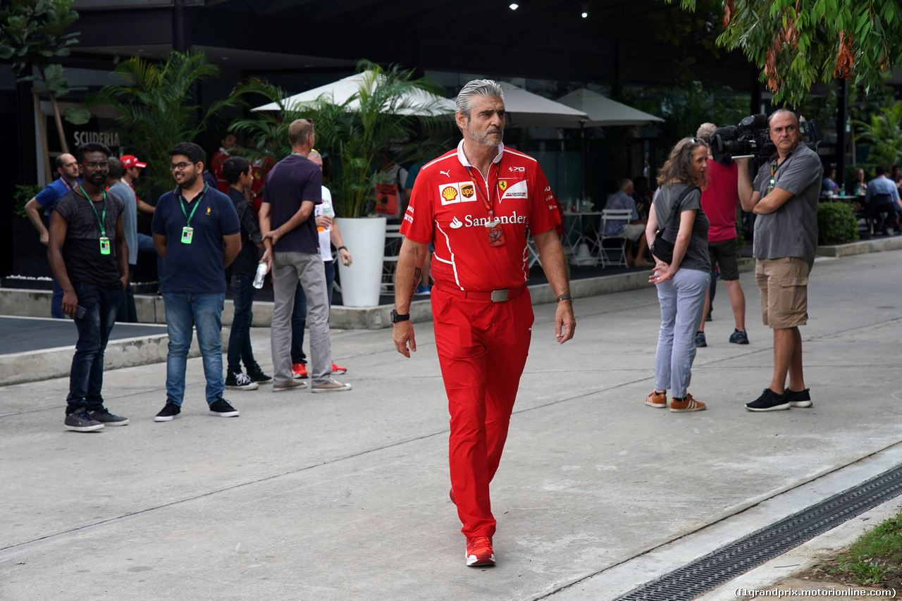 GP MALESIA, 30.09.2017 - Prove Libere 3, Maurizio Arrivabene (ITA) Ferrari Team Principal
