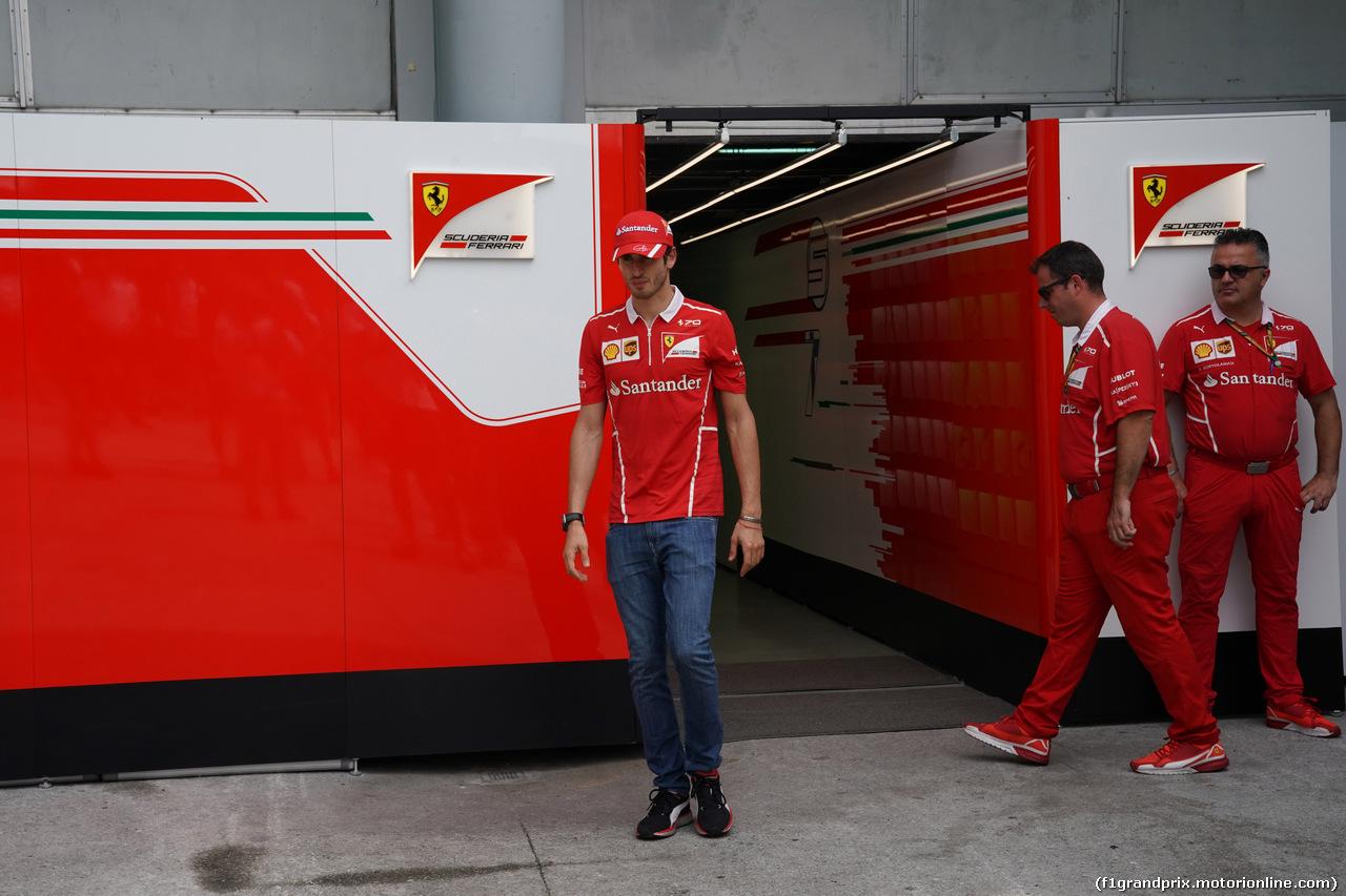 GP MALESIA, 30.09.2017 - Prove Libere 3, Antonio Giovinazzi (ITA) Test Driver, Ferrari SF70H