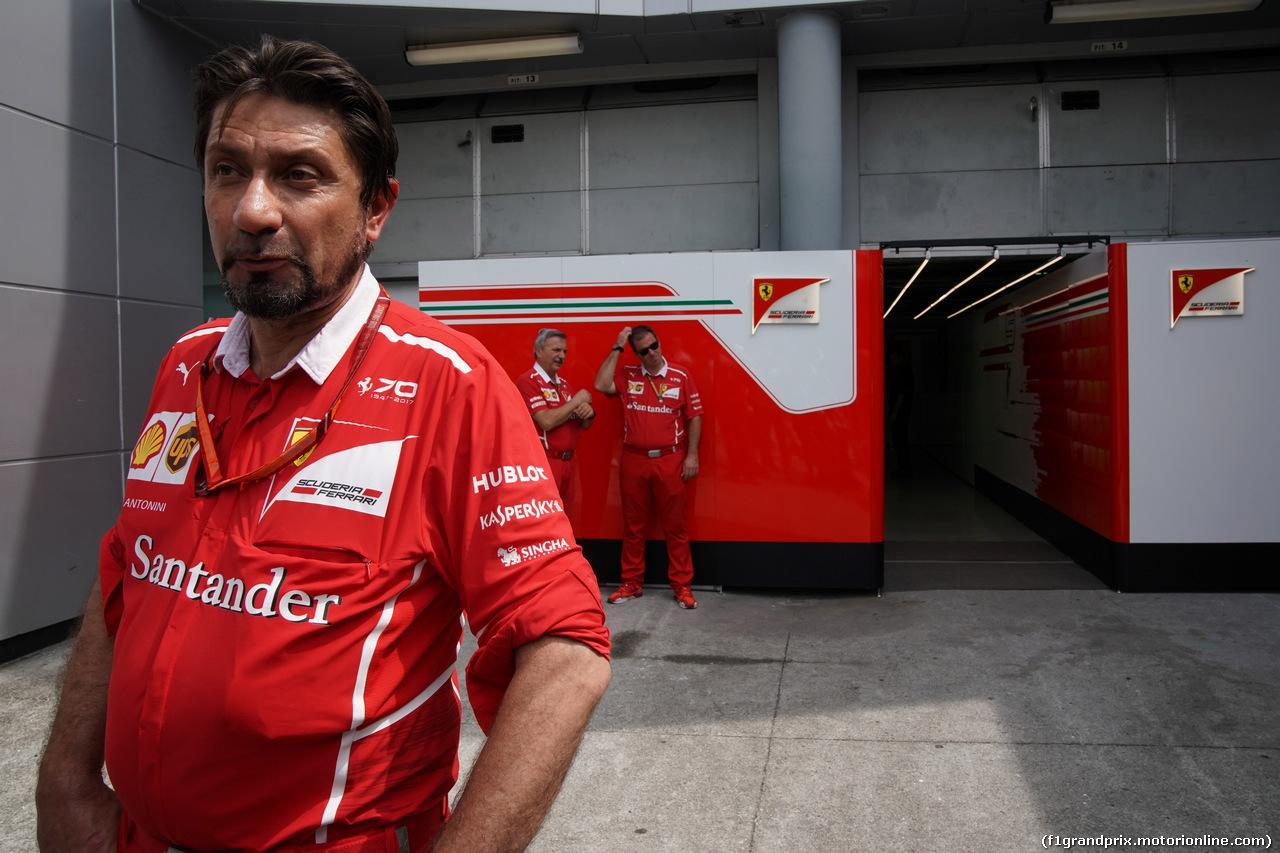 GP MALESIA, 30.09.2017 - Prove Libere 3, Alberto Antonini (ITA), Ferrari Press Officer