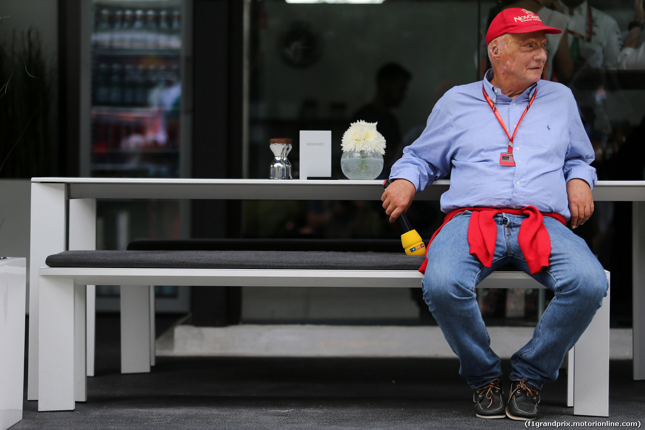 GP MALESIA, 30.09.2017 - Prove Libere 3, Nikki Lauda (AU), Mercedes