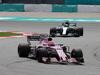 GP MALESIA, 30.09.2017 - Free Practice 3, Esteban Ocon (FRA) Sahara Force India F1 VJM10 e Valtteri Bottas (FIN) Mercedes AMG F1 W08