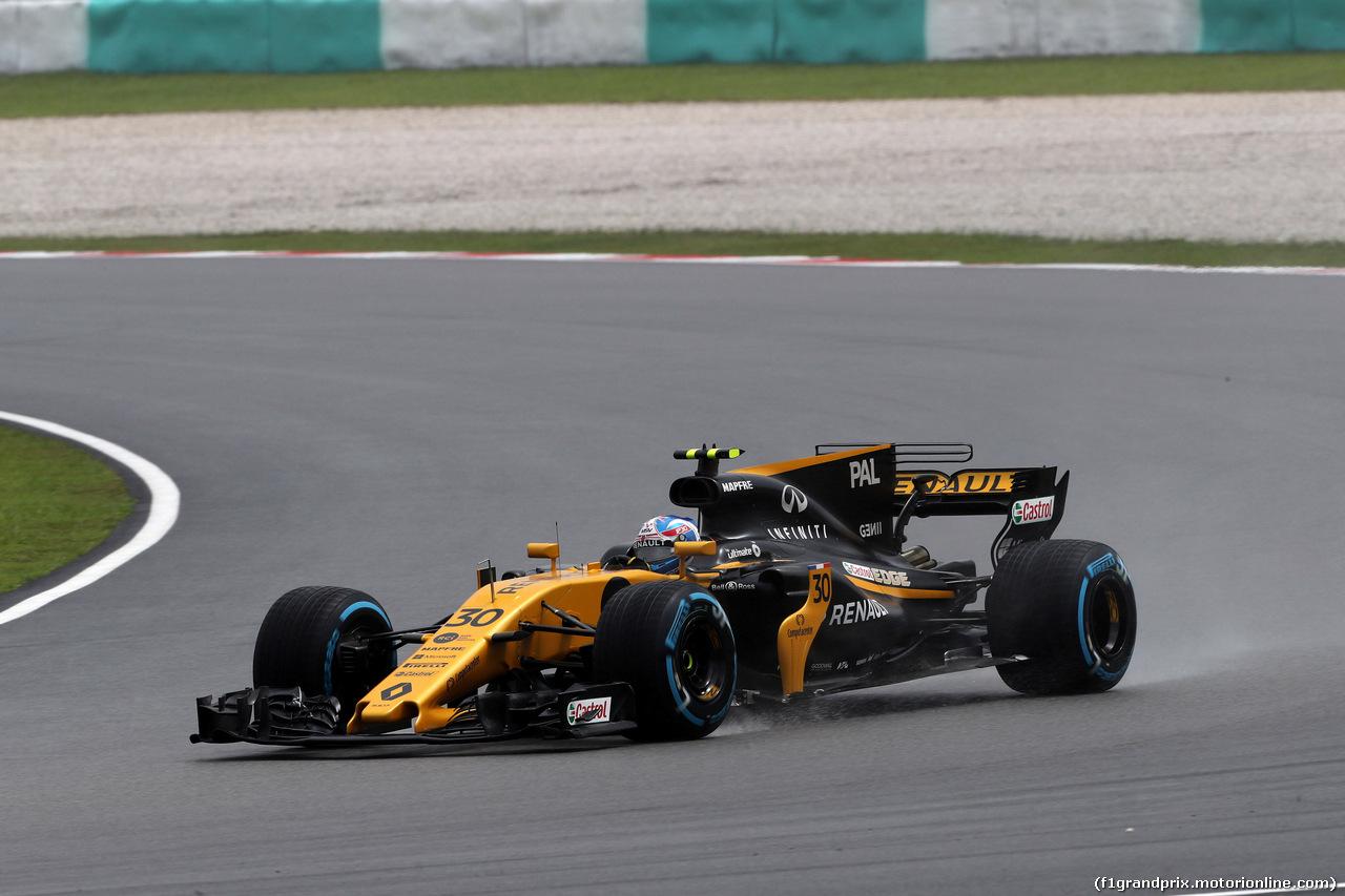 GP MALESIA, 29.09.2017 - Prove Libere 1, Jolyon Palmer (GBR) Renault Sport F1 Team RS17