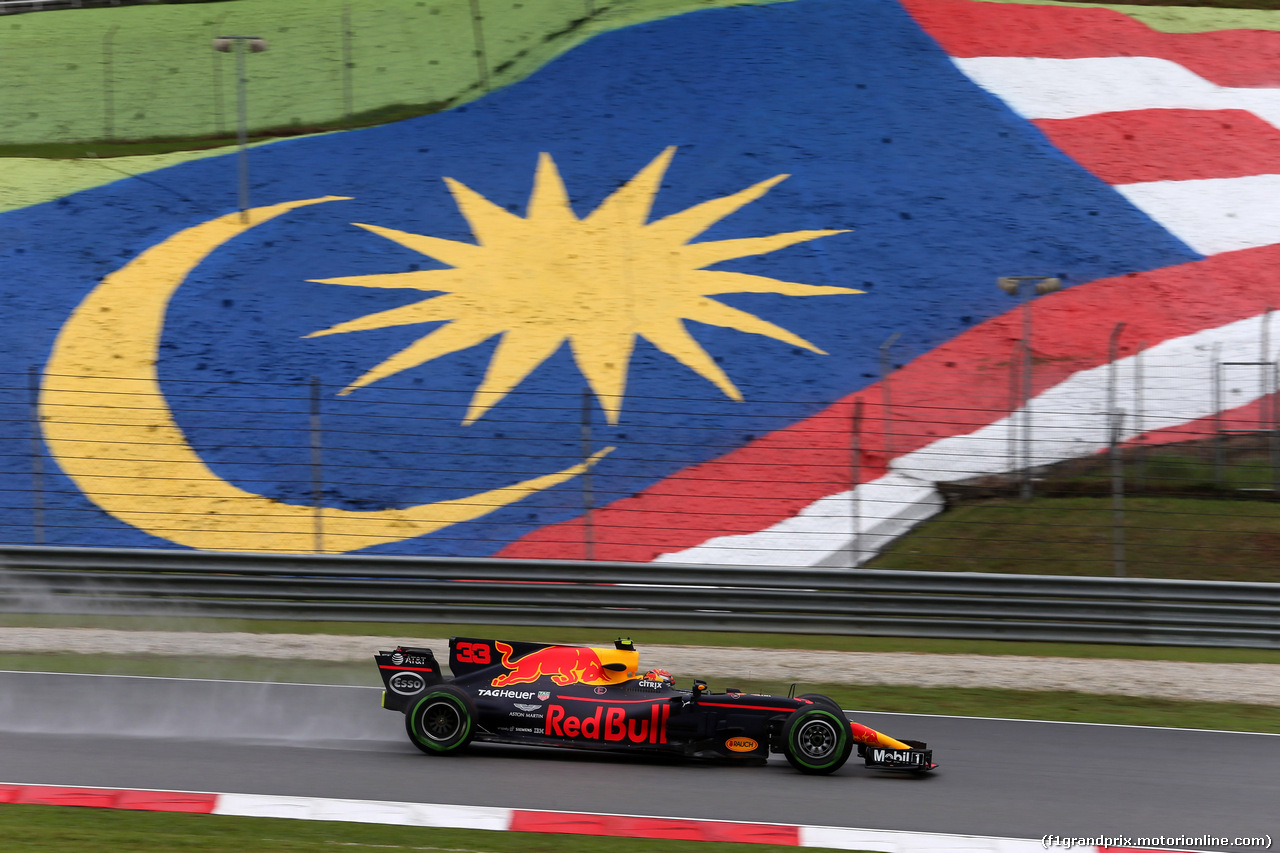 GP MALESIA, 29.09.2017 - Prove Libere 1, Max Verstappen (NED) Red Bull Racing RB13