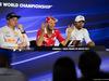 GP MESSICO, 28.10.2017 - Qualifiche, Conferenza Stampa, Max Verstappen (NED) Red Bull Racing RB13, Sebastian Vettel (GER) Ferrari SF70H e Lewis Hamilton (GBR) Mercedes AMG F1 W08