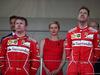 GP MONACO, 28.05.2017 - Gara, 2nd place Kimi Raikkonen (FIN) Ferrari SF70H, Charlene Wittstock Princess of Monaco e Sebastian Vettel (GER) Ferrari SF70H vincitore
