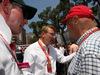 GP MONACO, 28.05.2017 - Gara, Mika Hakkinen (FIN), ex F1 driver e Nikki Lauda (AU), Mercedes