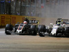 GP SINGAPORE, 17.09.2017 - Gara, Kevin Magnussen (DEN) Haas F1 Team VF-17 e Felipe Massa (BRA) Williams FW40