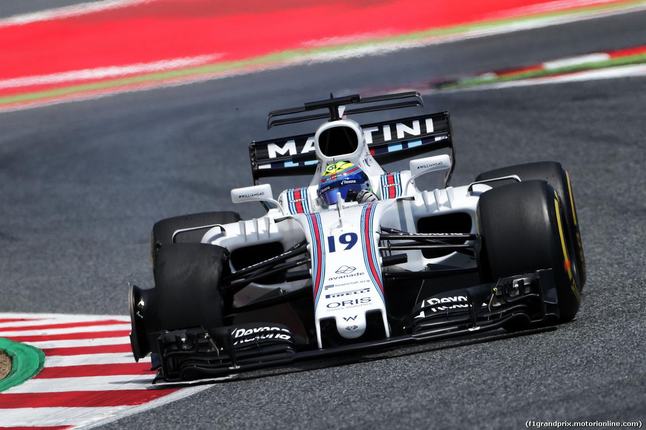 GP SPAGNA, Felipe Massa (BRA) Williams FW40 with a puncture. 14.05.2017.