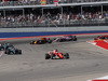GP STATI UNITI, 22.10.2017 - Gara, Sebastian Vettel (GER) Ferrari SF70H davanti a Lewis Hamilton (GBR) Mercedes AMG F1 W08
