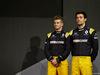 RENAULT RS17, (L to R): Nico Hulkenberg (GER) Renault Sport F1 Team with Jolyon Palmer (GBR) Renault Sport F1 Team. 21.02.2017.