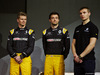 RENAULT RS17, (L to R): Nico Hulkenberg (GER) Renault Sport F1 Team with Jolyon Palmer (GBR) Renault Sport F1 Team e Sergey Sirotkin (RUS) Renault Sport F1 Team Third Driver. 21.02.2017.