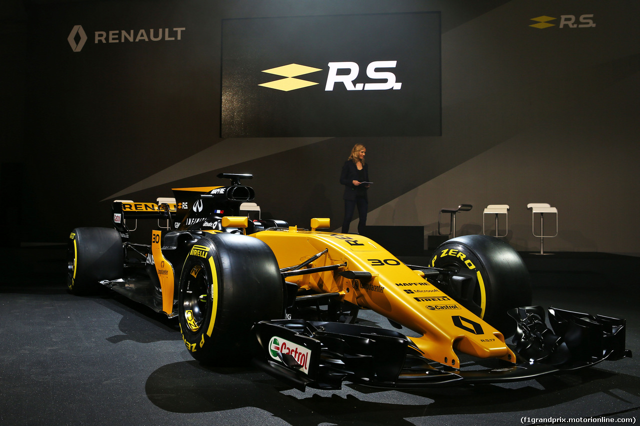 RENAULT RS17, The Renault Sport F1 Team RS17 is unveiled. 21.02.2017.