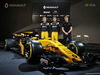RENAULT RS17, (L to R): Nico Hulkenberg (GER) Renault Sport F1 Team with Jolyon Palmer (GBR) Renault Sport F1 Team; Sergey Sirotkin (RUS) Renault Sport F1 Team Third Driver, e the Renault Sport F1 Team RS17. 21.02.2017.