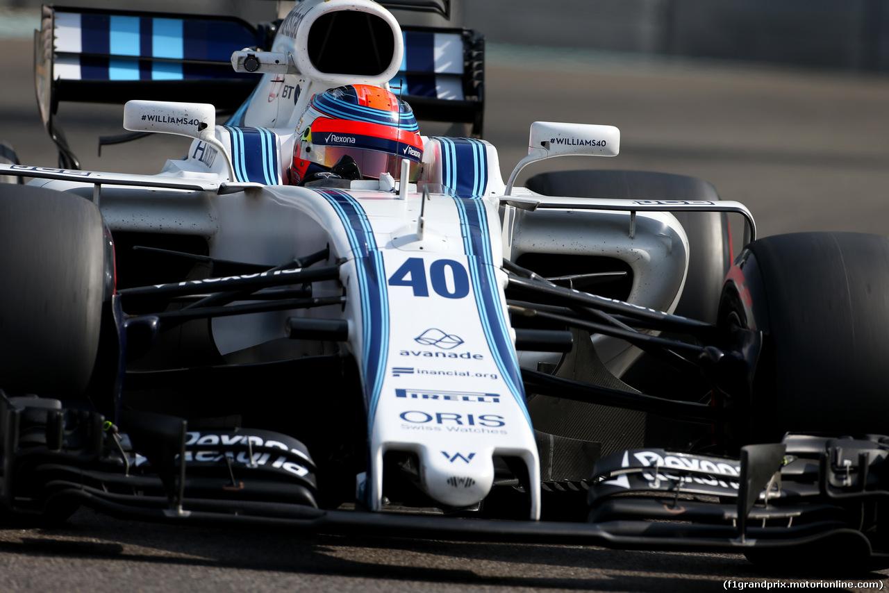 TEST ABU DHABI 28 NOVEMBRE, Robert Kubica (POL), Williams F1 Team  28.11.2017.