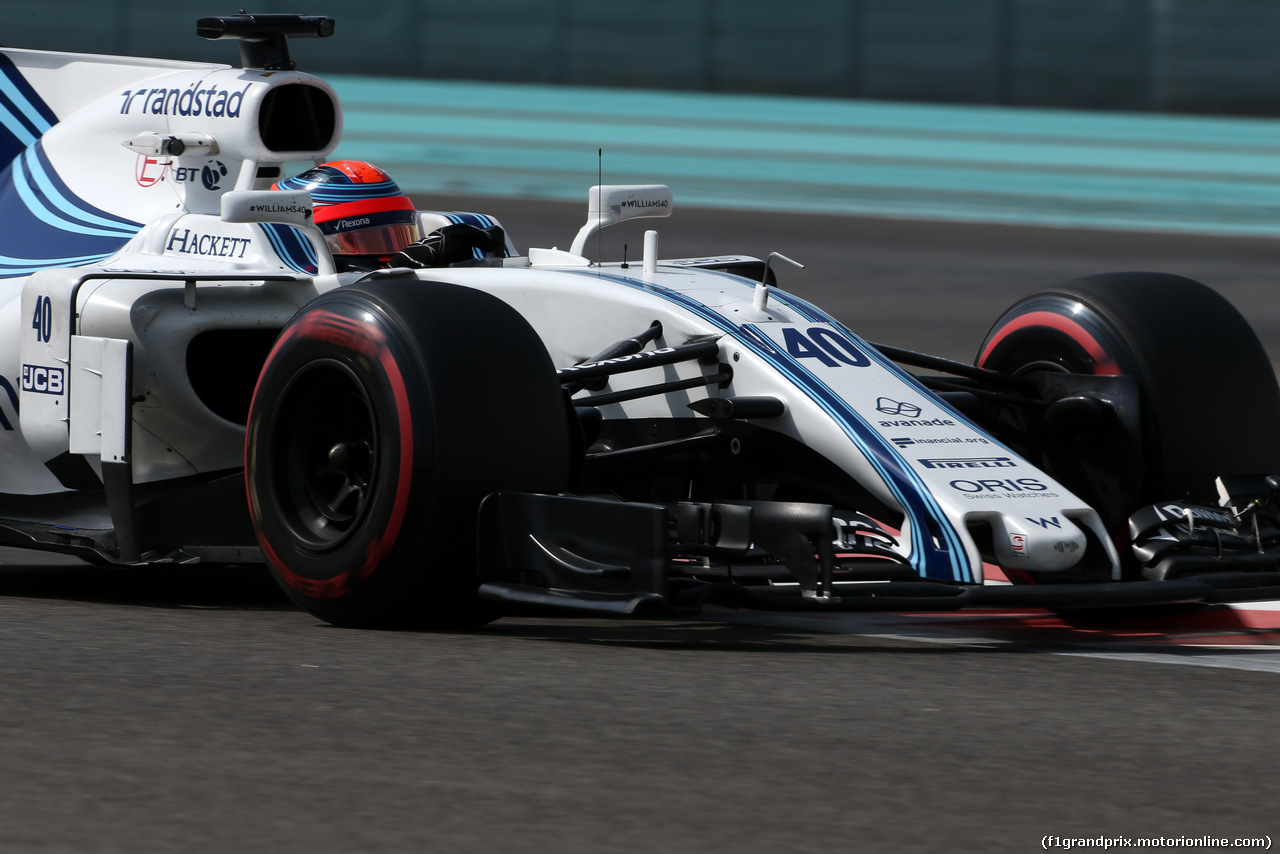 TEST ABU DHABI 28 NOVEMBRE, Robert Kubica (POL), Williams F1 Team  28.11.2017.