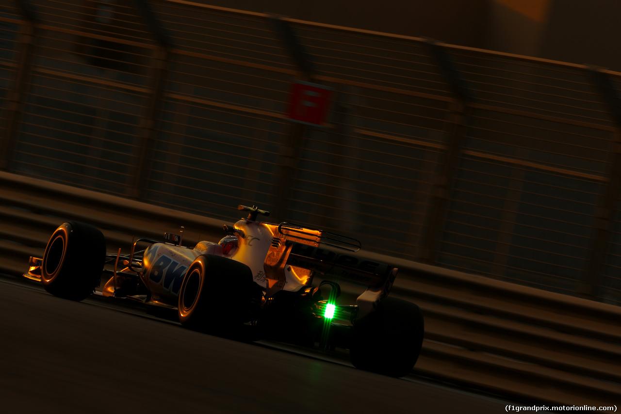 TEST ABU DHABI 28 NOVEMBRE, Nikita Mazepin (RUS) Sahara Force India F1  28.11.2017.