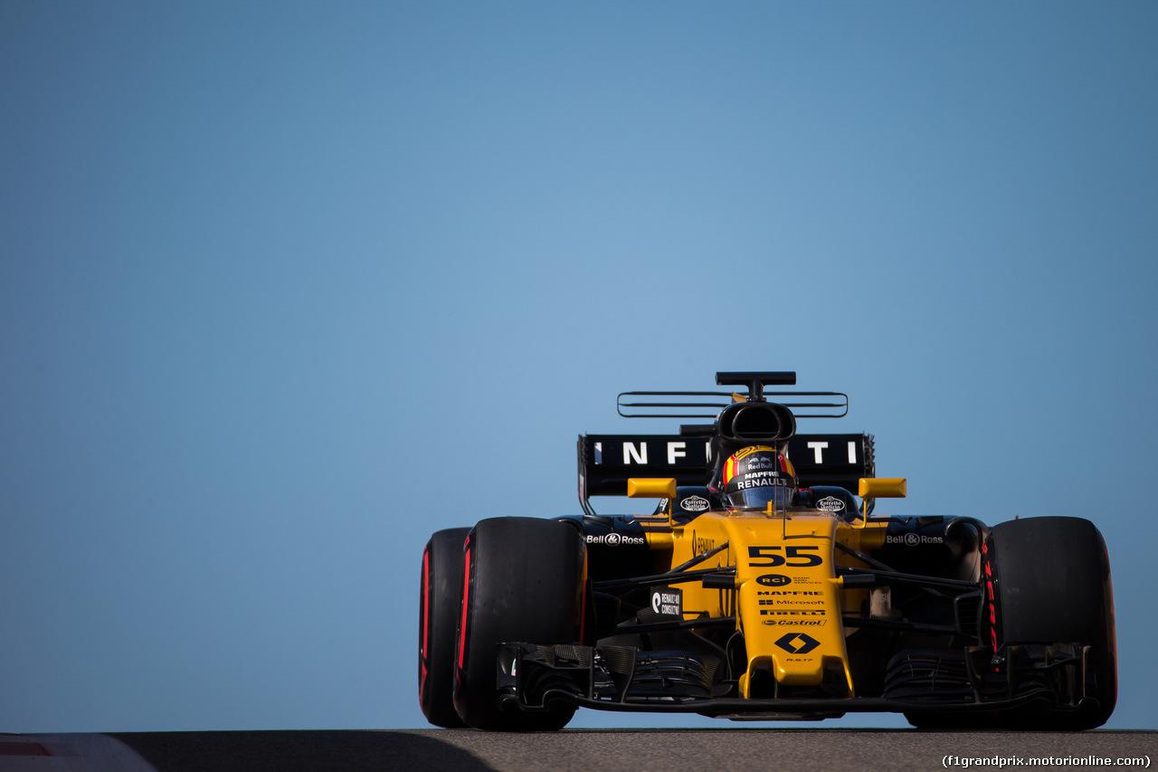 TEST F1 ABU DHABI 29 NOVEMBRE, Carlos Sainz Jr (ESP) Renault Sport F1 Team RS17. 29.11.2017.