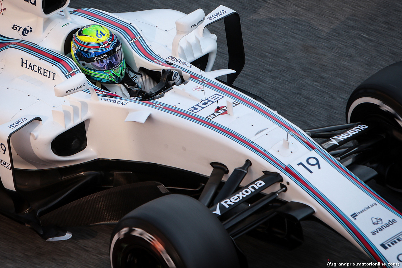 TEST F1 BARCELLONA 27 FEBBRAIO, Felipe Massa (BRA) Williams FW40. 27.02.2017.