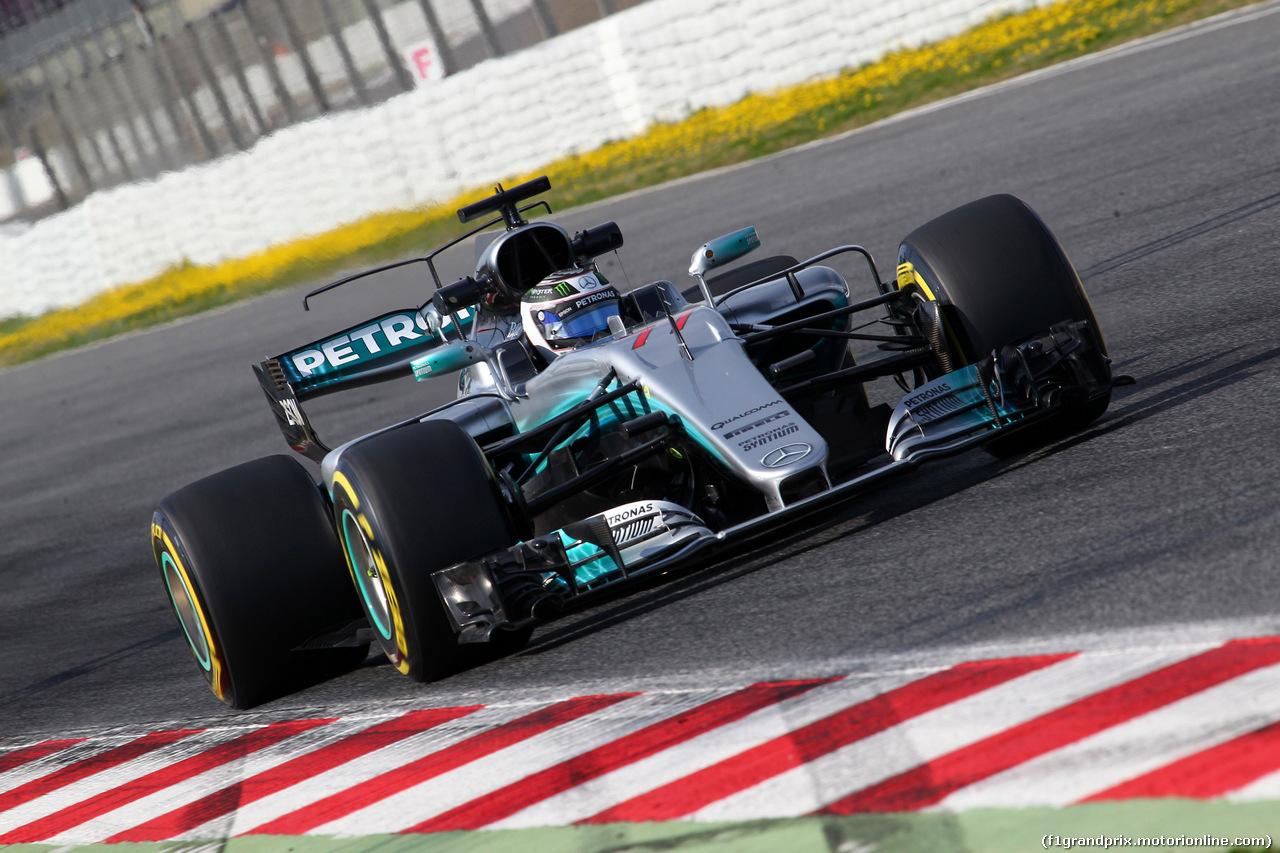 TEST F1 BARCELLONA 27 FEBBRAIO, 27.02.2017 - Valtteri Bottas (FIN) Mercedes AMG F1 W08